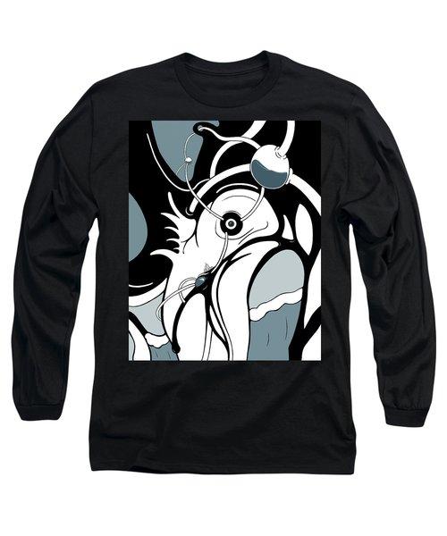 Aqua Grid Long Sleeve T-Shirt