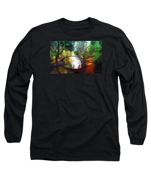 Arched Bridge Over Brilliant Waters Long Sleeve T-Shirt by LaVonne Hand