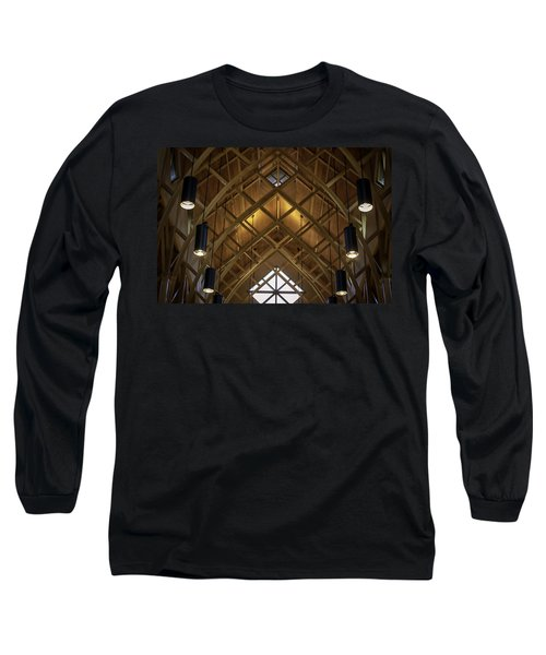 Arched Trusses - University Of Florida Chapel On Lake Alice Long Sleeve T-Shirt by Lynn Palmer