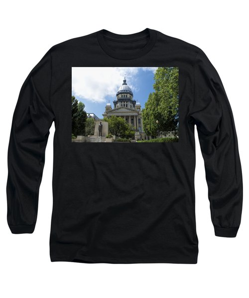 Architecture - Illinois State Capitol  - Luther Fine Art Long Sleeve T-Shirt
