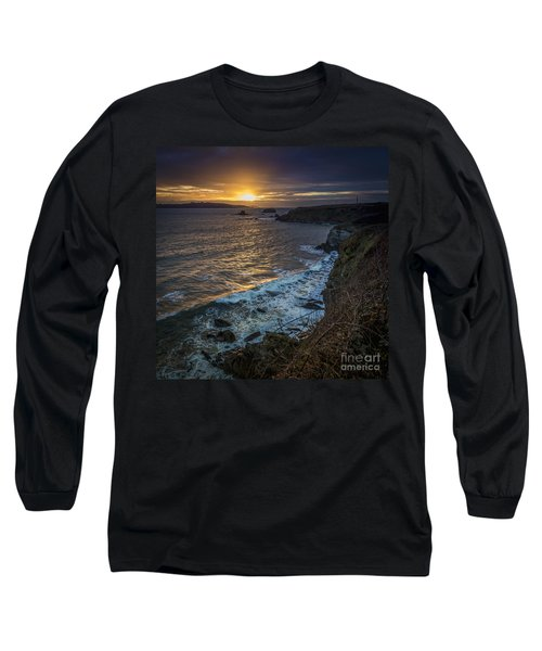 Ares Estuary Mouth Galicia Spain Long Sleeve T-Shirt by Pablo Avanzini