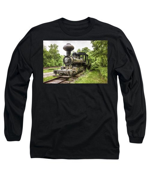 Long Sleeve T-Shirt featuring the photograph Argent Lumber Company Engine No. 4 - Antique Steam Locomotive by Gary Heller