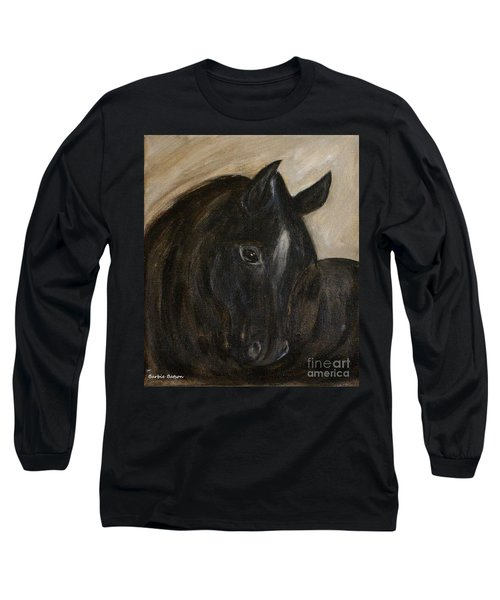 Long Sleeve T-Shirt featuring the painting Arion by Barbie Batson