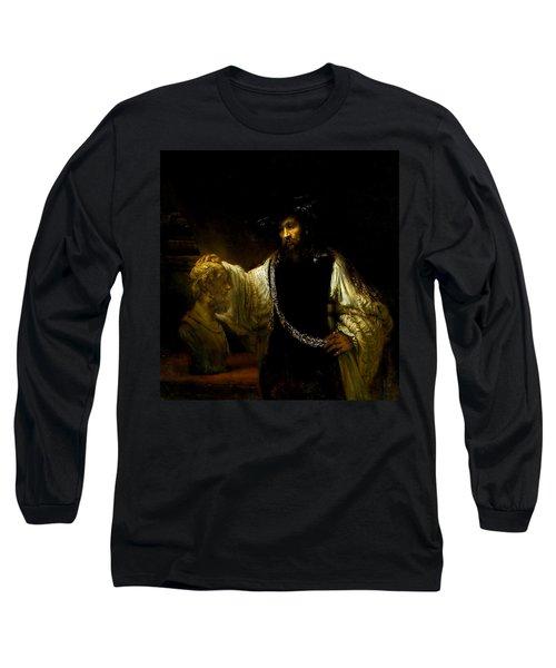 Aristotle Contemplating A Bust Of Homer Long Sleeve T-Shirt