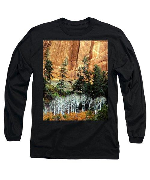 Arizona's Betatkin Aspens Long Sleeve T-Shirt by Ed  Riche