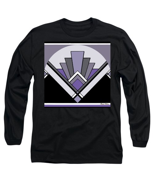 Art Deco Pattern Two - Purple Long Sleeve T-Shirt