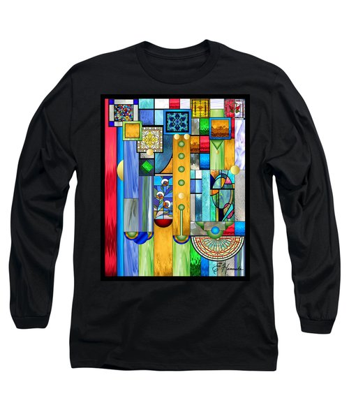Art Deco Stained Glass 1 Long Sleeve T-Shirt