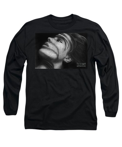 Long Sleeve T-Shirt featuring the drawing Art In The News 42 by Michael Cross