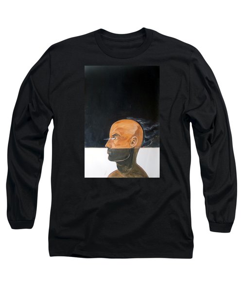 Long Sleeve T-Shirt featuring the painting As Vapor Gutural by Lazaro Hurtado