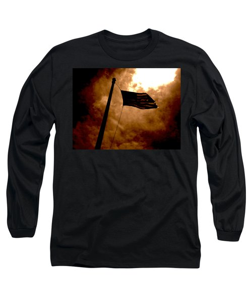Ascend From Darkness Long Sleeve T-Shirt by Paulo Guimaraes