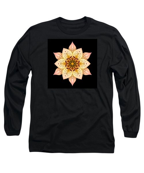 Asiatic Lily Flower Mandala Long Sleeve T-Shirt