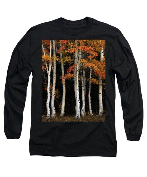 Aspen Contrast Long Sleeve T-Shirt by Leland D Howard