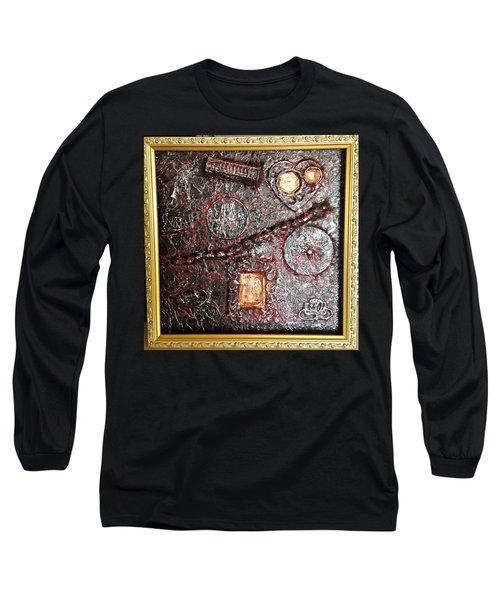 Assemblage Art By Alfredo Garcia Art  Long Sleeve T-Shirt