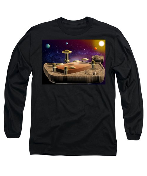 Asteroid Terminal Long Sleeve T-Shirt by Cyril Maza