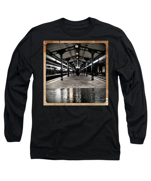 Long Sleeve T-Shirt featuring the photograph Astoria Boulevard by James Aiken
