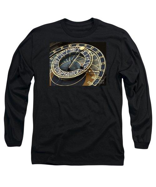 Astronomical Clock Long Sleeve T-Shirt by Ann Horn