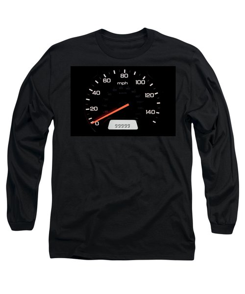 Long Sleeve T-Shirt featuring the photograph At A Milestone by Andrew Soundarajan