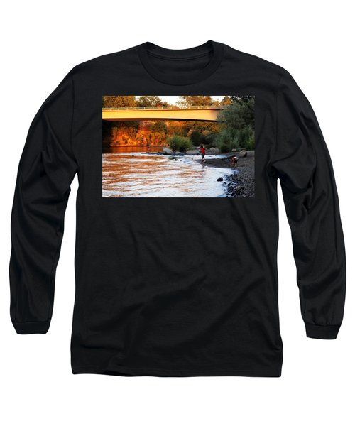 Long Sleeve T-Shirt featuring the photograph At Rivers Edge by Melanie Lankford Photography