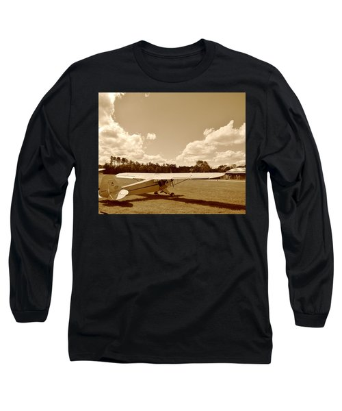 Long Sleeve T-Shirt featuring the photograph At The Airfield by Jean Goodwin Brooks