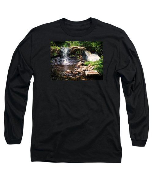 Long Sleeve T-Shirt featuring the photograph At The Mill Pond Dam by Joy Nichols