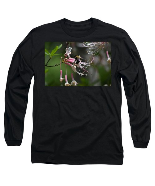 Long Sleeve T-Shirt featuring the photograph At Work by Tara Potts