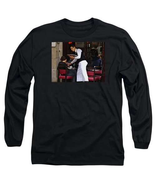 Long Sleeve T-Shirt featuring the photograph At Your Service by Ira Shander