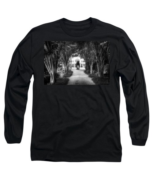 Atlanta Botanical Garden-black And White Long Sleeve T-Shirt