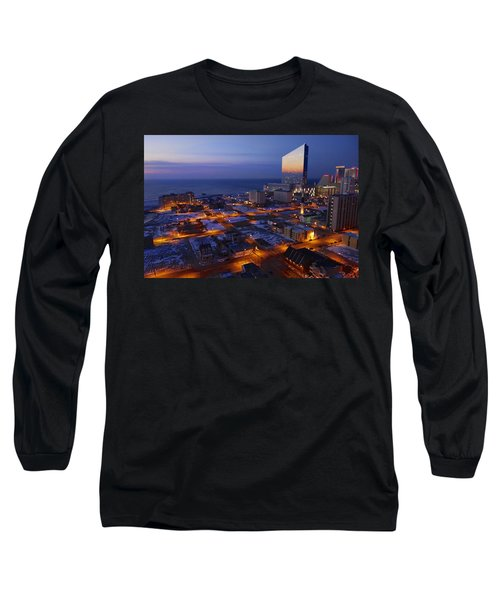 Atlantic City At Dawn Long Sleeve T-Shirt by Joan Reese