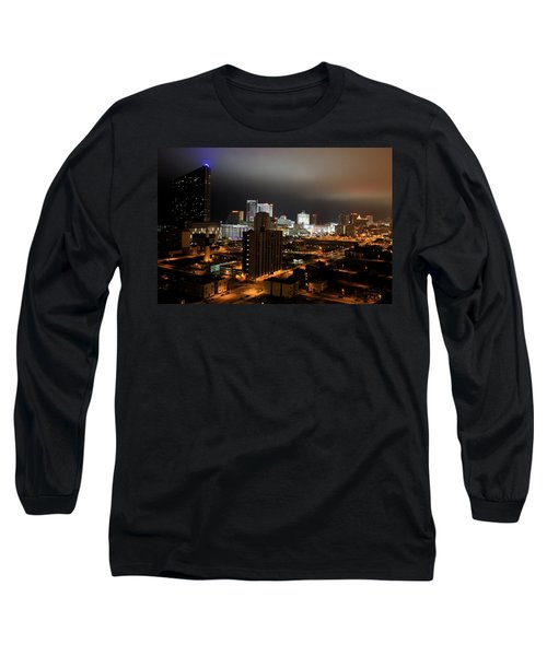 Atlantic City At Night Long Sleeve T-Shirt