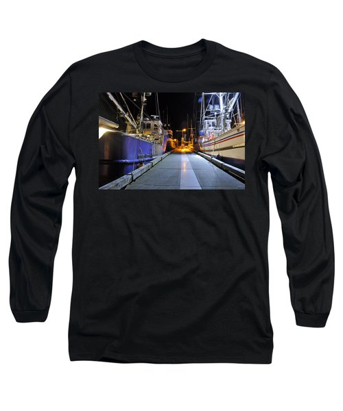 Long Sleeve T-Shirt featuring the photograph Auke Bay By Night by Cathy Mahnke