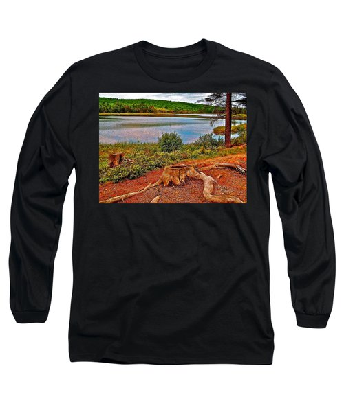 Aunt Betty Pond In Acadia National Park-maine  Long Sleeve T-Shirt