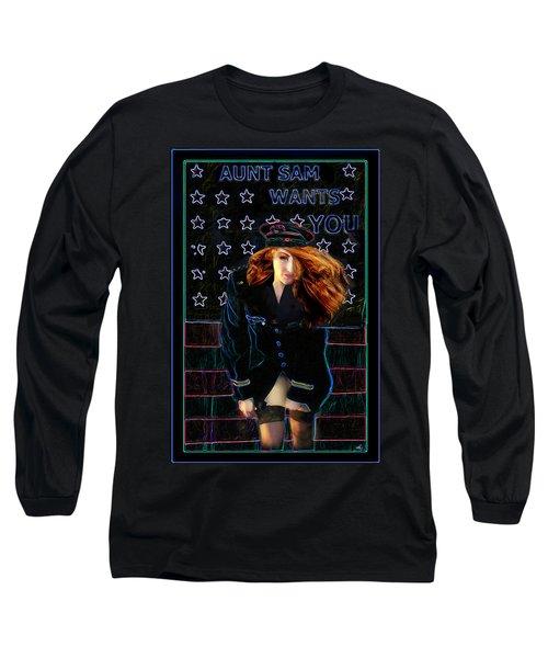 Aunt Sam Long Sleeve T-Shirt