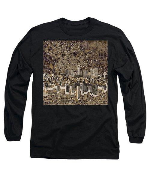 Austin Texas Skyline 5 Long Sleeve T-Shirt