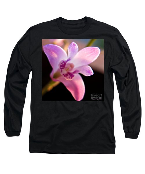 Australian Bush Orchid Long Sleeve T-Shirt by Leanne Seymour