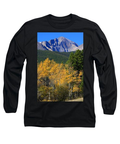 Autumn Aspens And Longs Peak Long Sleeve T-Shirt