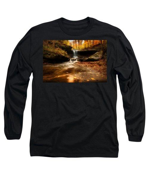Autumn At Blue Hen Falls Long Sleeve T-Shirt by Rob Blair