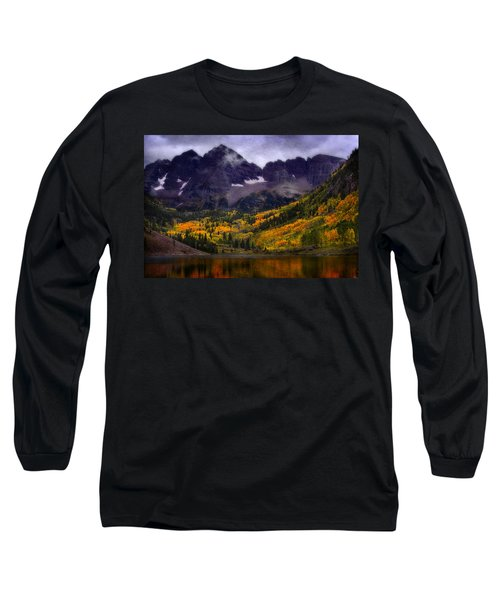 Long Sleeve T-Shirt featuring the photograph Autumn At Maroon Bells by Ellen Heaverlo