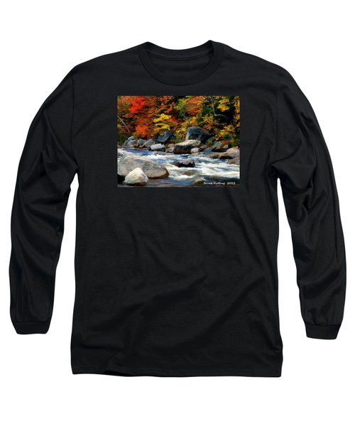 Long Sleeve T-Shirt featuring the painting Autumn Creek by Bruce Nutting
