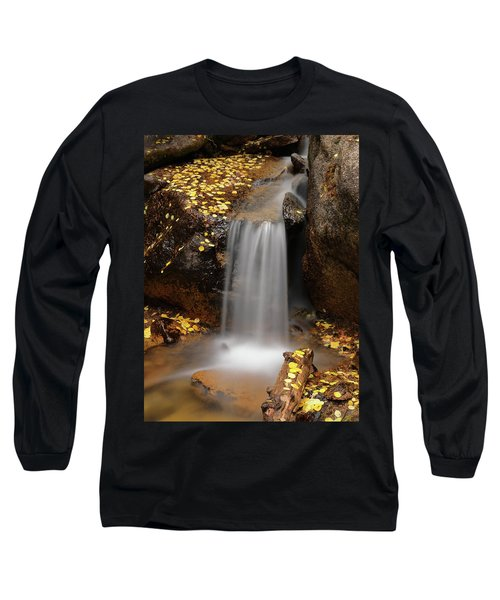 Autumn Gold And Waterfall Long Sleeve T-Shirt