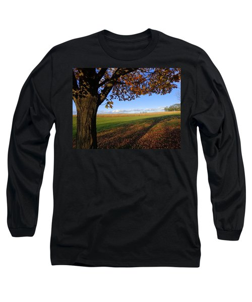 Autumn Landscape Long Sleeve T-Shirt by Joseph Skompski