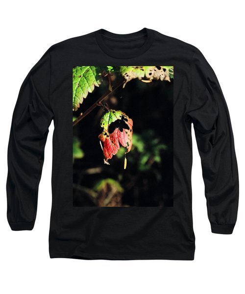 Long Sleeve T-Shirt featuring the photograph Autumn Leaf by Cathy Mahnke