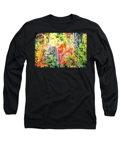 Autumn Leaves Reflected In Pond Surface Long Sleeve T-Shirt