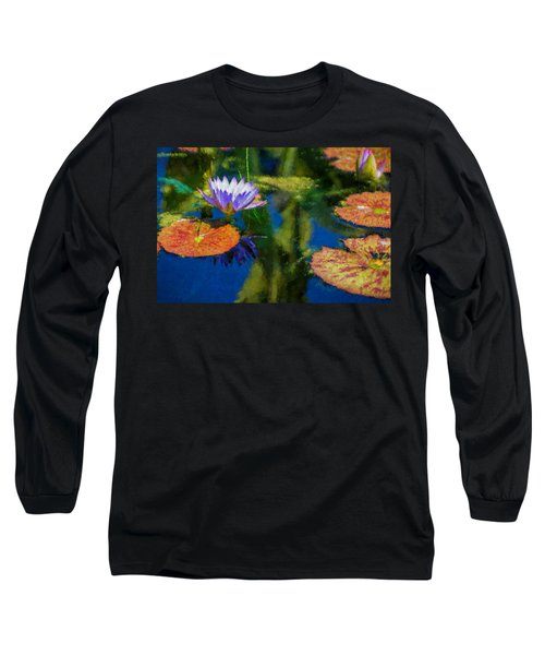 Autumn Lily Pad Impressions Long Sleeve T-Shirt
