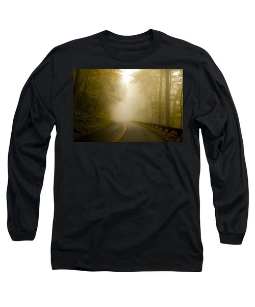 Autumn Mist Blue Ridge Parkway Long Sleeve T-Shirt