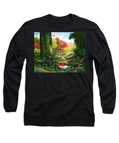 Autumn Morning In The Forest Long Sleeve T-Shirt