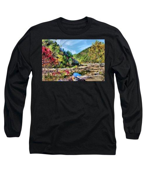 Autumn On The Ocoee Long Sleeve T-Shirt