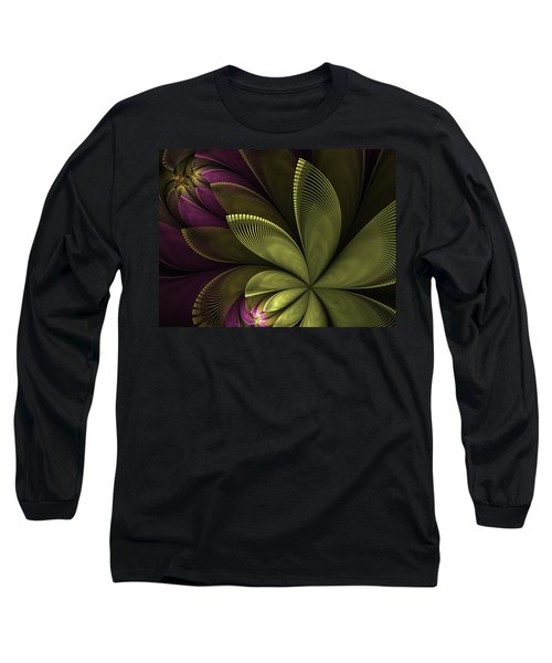 Long Sleeve T-Shirt featuring the digital art Autumn Plant II by Gabiw Art