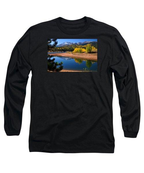 Autumn Reflections At Crystal Long Sleeve T-Shirt by John Hoffman