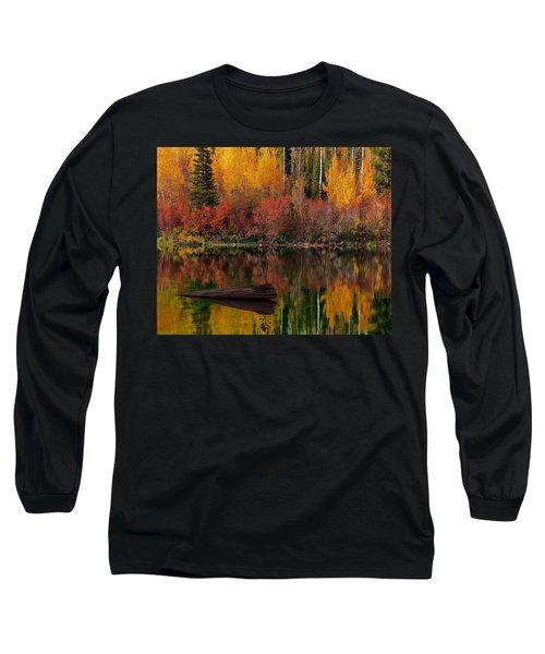 Autumn Reflections Long Sleeve T-Shirt by Leland D Howard