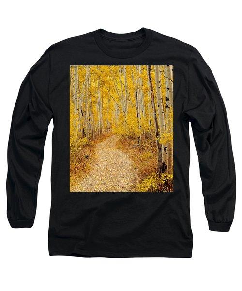 Autumn Road Long Sleeve T-Shirt by Leland D Howard